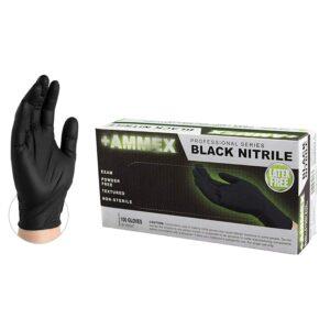 AMMEX Medical Black Nitrile Gloves