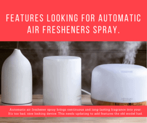 Features looking for automatic air fresheners spray.