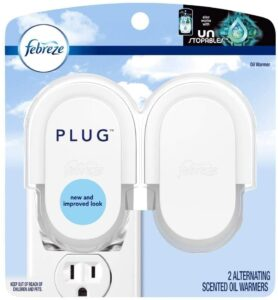 Febreze Plug In Air Freshener Scented Oil Warmer, 4 Count