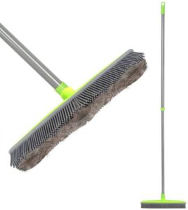 LandHope Push Broom Long Handle Rubber