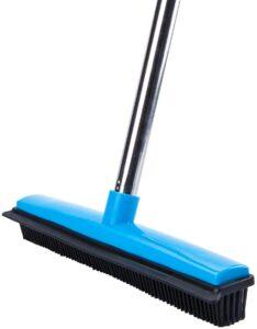 Long Handle Soft Bristle Rubber Broom