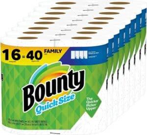 Bounty Quick-Size Paper Towels, White, 16