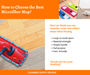How to choose the best microfiber mop_
