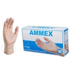 AMMEX Medical Clear Vinyl Gloves