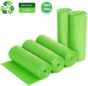 Biodegradable Trash Bags 4 - 6 Gallon