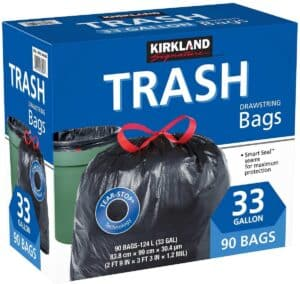 Kirkland Signature Drawstring Trash Bags