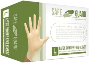 SAFEGUARD Latex Powder Free Gloves