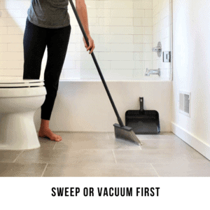 Sweep or Vacuum First
